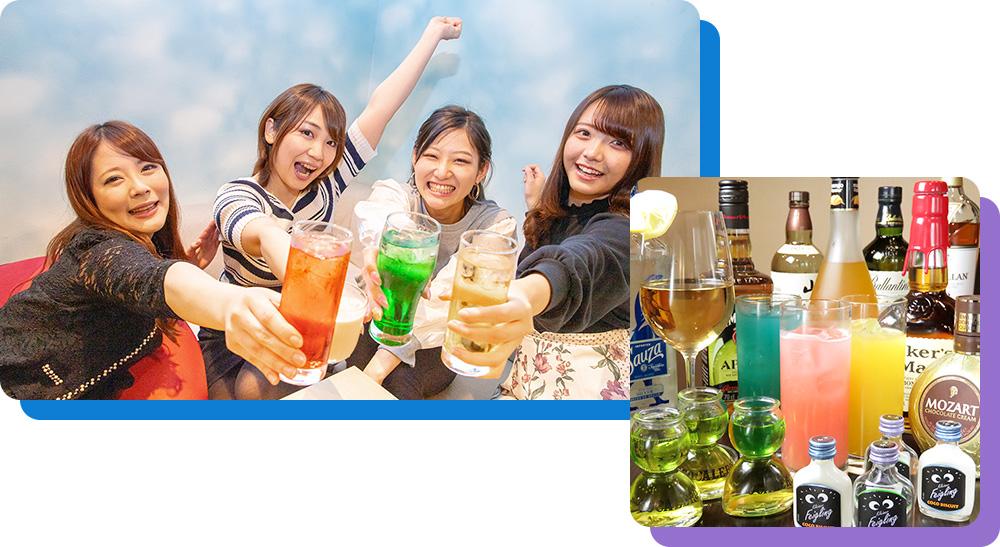 本格BARの系列だから アルコールメニューの種類も多いんです!