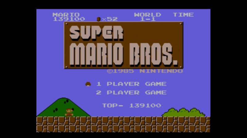 スーパーマリオコレクションのマリオブラザーズタイトル画面